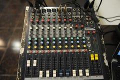 Misturador do equipamento do DJ Imagens de Stock