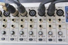Misturador do estúdio da música de Digitas não limpo em Tailândia foto de stock royalty free