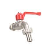 misturador do torneira da Água-fonte para a água isolada no fundo branco Foto de Stock