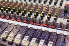 Misturador do áudio do estúdio Foto de Stock Royalty Free