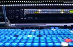 Misturador do vídeo da televisão Foto de Stock