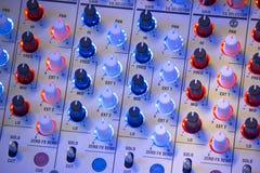 Misturador sadio audio Foto de Stock Royalty Free