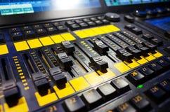 Misturador sadio audio fotografia de stock
