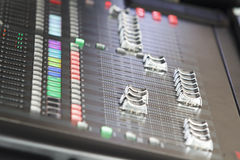 Misturador sadio audio no concerto Imagens de Stock Royalty Free
