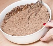 Misturando a brownie. Imagens de Stock Royalty Free