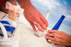 Misturar areias é uma família nova fotos de stock royalty free