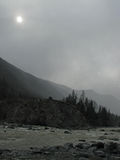 misty βουνά Στοκ Εικόνες