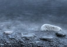 misty βράχοι πρωινού Στοκ Εικόνα
