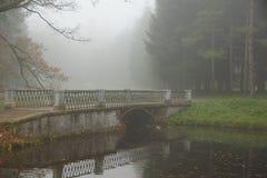 misty πρωί φθινοπώρου Στοκ εικόνα με δικαίωμα ελεύθερης χρήσης