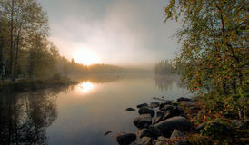 misty πρωί Στοκ Φωτογραφίες