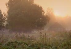 misty χωριό πρωινού Στοκ φωτογραφίες με δικαίωμα ελεύθερης χρήσης