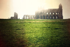 Misty Abbey in the morning sunshine Royalty Free Stock Photos