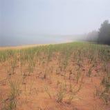Misty Afternoon At Big Bay delstatspark Arkivbilder