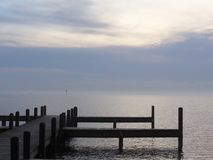 Misty Afternoon på Pamlicoen Royaltyfri Fotografi