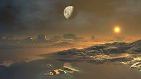 Misty Alien Planet stock footage