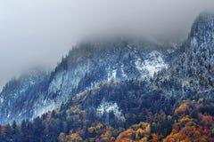 Misty Alps in Autumn Stock Photos
