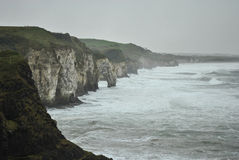 Misty arch in Northern Ireland coast Royalty Free Stock Images