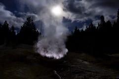 Yellowstone National Park, Wyoming, United States. Misty autumn day in Yellowstone national park Royalty Free Stock Photos