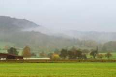 Misty autumn scenery Royalty Free Stock Images