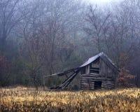 Misty Barn Stock Photo