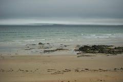 Misty Beach Stock Photo