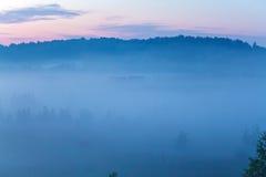 Misty Beautiful Nature Background Fotografering för Bildbyråer