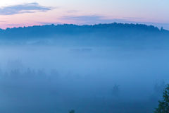 Misty Beautiful Nature Background Imagen de archivo