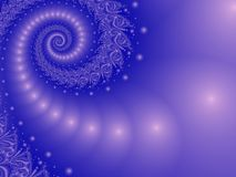Misty Blue en spirale Photo stock