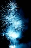 Misty blue Firework Stock Image
