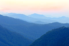 Misty Blue Mountains Royalty Free Stock Photo
