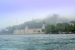 Misty Bosphorus sikt Royaltyfria Bilder