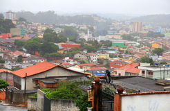 Misty Brazilian town Royalty Free Stock Photo