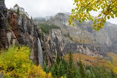 Misty Bridal Veil Falls Royalty Free Stock Photos