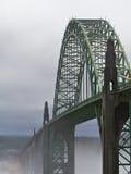 Misty bridge dark Stock Photo