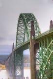Misty bridge HDR Stock Photo