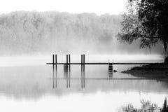 The misty bridge stock image