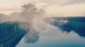 Misty Canal Photo stock