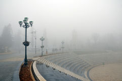 Misty. The city of misty Royalty Free Stock Image