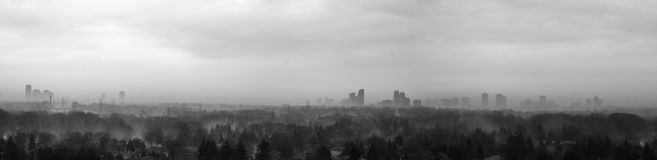 Misty City as Spring approaches. Royalty Free Stock Image