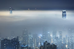 Misty City Stock Photography