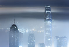 Misty city night Royalty Free Stock Images