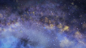 Misty clusters in saved. The galaxy in space Royalty Free Stock Image