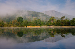 Misty Coniston. Misty morning on Coniston water Royalty Free Stock Photography