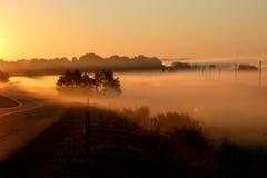 Misty countryside Stock Photography