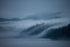 Misty dawn, Inside Passage, Alaska Royalty Free Stock Images