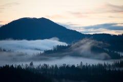 Misty dawn, Ketchikan, Alaska Stock Photos