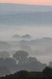 Misty Dawn Layers Royalty Free Stock Photos