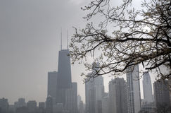 Misty Day in Chicago Stock Photography