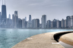 Misty Day in Chicago Royalty Free Stock Image