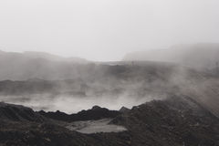 Misty day at the coal mine Royalty Free Stock Images